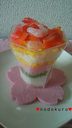 Chirashi zushi(sushi) in a cup!