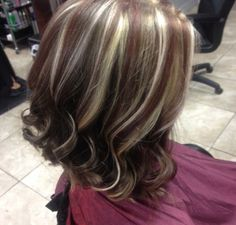 Red & blonde highlights By:audreymiller