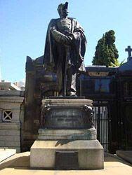 Argentina Buenos Aires Tumba y estatua del Almirante Manuel José García Mansilla
