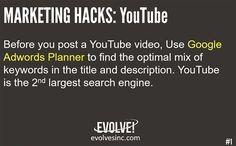 Youtube #Marketing Hack Use #Google #Adwords Planner for the best… #digitalmarketing #google #contentmarketing #marketing #socialmedia