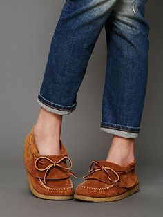Casco Bay Moccasins- Free People- I am in LOVE!