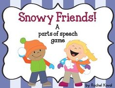 Parts of Speech-  Here's a fun winter themed game that will help reinforce your students' understanding of the parts of speech. Product focuses on nouns, adjectives, verbs, and adverbs. Use all the parts of speech word cards or just the ones you are learning that week! Game is great for whole group, small groups, or center work.  Contents: cover sheet direction card noun, adjective, verb, and adverb sorting mats noun, adjective, verb, and adverb explanation posters...