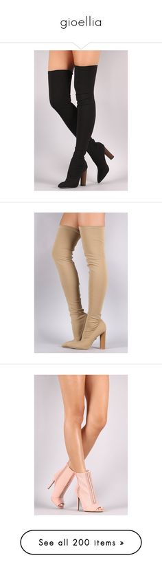"""gioellia"" by soniamoreira ❤ liked on Polyvore featuring shoes, boots, dolls, pull on boots, pointy toe boots, over knee boots, over knee stretch boots, above the knee boots, slip on boots and stretch thigh high boots"