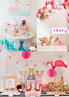Monte o Look: Decoração | Festa de Flamingo