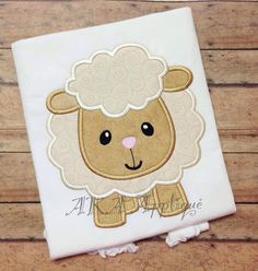 Lydia Lamb Applique Embroidery Design by AKAApplique on Etsy