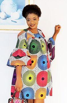dites le avec des fleurs pagne wax maxi couleurs colorful robe dress tunic  african Robe En