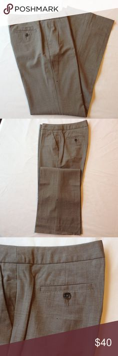Banana Republic Lightweight Wool Pant Martin Fit lightweight wool pant. Lined with hip and back button pockets. Great neutral taupe/grey color.  See the matching pencil skirt and jacket in my closet. Banana Republic Pants Trousers