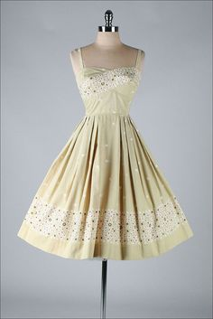 TORI RICHARD vintage 1950s dress