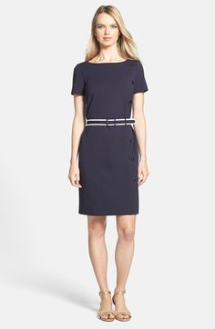 Tory Burch 'Sonia' Button Detail Sheath Dress available at #Nordstrom