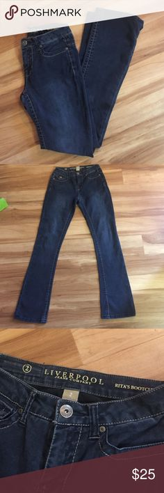 Liverpool jeans Rita's bootcut size 2 stretch Excellent condition, size to Liverpool jeans company Rita's boot cut. Stretchy jeans. These are pretty much new without tags as they have only been worn once Liverpool Jeans Company Jeans Boot Cut