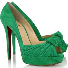 Обувь цвет зелёный