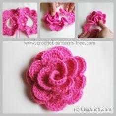 Free Crochet Flower Patterns- Crochet Rose