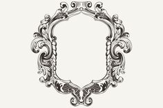High Ornate Vintage Frame. Vector. by aakbar on Creative Market
