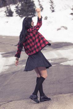 Dark as Night Skater Skirt - Haute Attitude  - 4