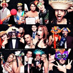 I want to have a silly photo booth at the wedding where people can goof off, take pics with their cameras and phones, and tag us in them when they upload to facebook!