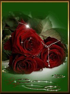 Gif Paradis e Flowers Gif, Beautiful Rose Flowers, Beautiful Gif, Glitter Flowers, Ocean Wallpaper, Rose Wallpaper, Wallpaper Backgrounds, Gif Bonito, Rose Images