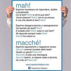 Utilizzo di mah e macché #learnitalian #learningitalian #italianlanguage…