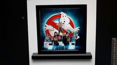 Ghostbusters Lego minifigures display frame