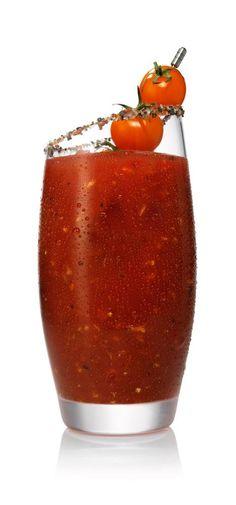 BLOODY MARY - tomato juice, lemon juice, salt, hot sauce, Worcestershire sauce, SVEDKA Vodka.