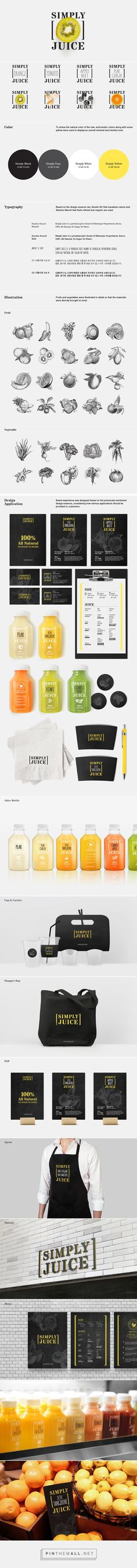 SHINSEGAE Simply Juice branding packaging eXperience Design on Branding Served curated by Packaging Diva PD. Love this idea