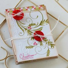 Fancy Flourishes and Peaceful Poinsettia, great combo! #Christmas card