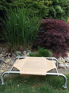 """Aus der Kategorie Betten  gibt es, zum Preis von   Edelstahlliege klein 82x52, High-Tech Hochleistungsnetz """"beige/gelb"""" Der Sommer Tip !!! Extrem reißfestes und luftdurchlässiges Hochleistungsnetz. Wird auch für Gartenliegen und Stühle verwendet. Made in Germany. Outdoor geeignet ! Bei Verschmutzung einfach mit dem Gartenschlauch abspritzen, fertig. Weitere Modelle bei Luxushundeliegen.de Als Kleinunternehmer im Sinne von § 19 (1) UStG wird keine Umsatzsteuer berechnet. Auf die Anwendung der…"""