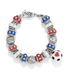 Soccer bracelet from Brighton. . .build your own ~ want to make one for myself with our team colors!