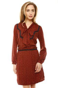 Bowtie Pleated Dress