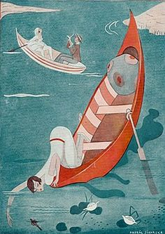 Right that's all from me. I'm going to be away on a river boat trip with my lovely man. Weather forecast is saying no rain so hopefully be a good one. Wish you all a great weekend! x Cover Art by Andree Sikorska For Fantasio 1929