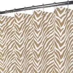 Park B. Smith® Zebra Zebra Taupe 72-Inch x 72-Inch Watershed® Shower Curtain - BedBathandBeyond.com