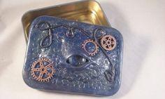 Polymer clay Dragon Eye tin Pagan/Goth large by MysticalForestUK