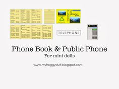 Mini Pay Phone Face and Phone Book by MyFroggyStuff