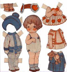 Vintage cuteness: Grace Drayton's Dolly Dingle paper doll.