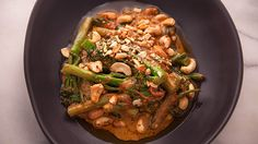 Stir Fried Broccolini with Cashew Nut Red Curry Recipe from Everyday Gourmet with Justine Schofield
