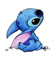 Awwwww Stitch is so cute!! This would make a great pin - Disney do you hear me!!!!