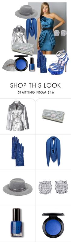 """""""Silver & Blue"""" by miamastore-france ❤ liked on Polyvore featuring Rejina Pyo, Bloomingdale's, Fendi, rag & bone, Bobbi Brown Cosmetics and MAC Cosmetics"""