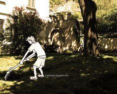 drawing gardening