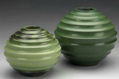Swedish Art Deco vases  by Ewald Dahlskog 1930