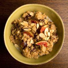 Fig & Bulgar Porridge. Bulgur's fast cooking time makes this naturally sweet dish an ideal breakfast.