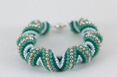 Cellini spiral beaded bracelet