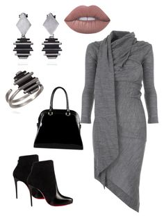 """""""Casual"""" by allonasada on Polyvore featuring Vivienne Westwood Anglomania, Christian Louboutin, Diophy and Lime Crime"""