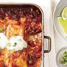 Beef and Black Bean Enchiladas | CookingLight.com