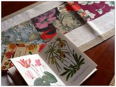 Floral and botanic table runner