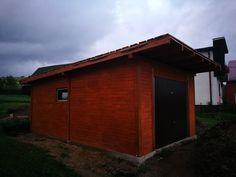 Garáž od fimry WoodSK - dokonalá do detailov Shed, Outdoor Structures, Backyard Sheds, Coops, Barns, Tool Storage, Barn