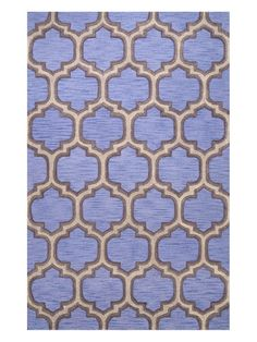 Geometric Faye Lattice Hand-Looped Rug by nuLOOM at Gilt