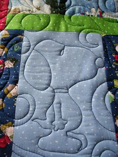 Linda's Quiltmania: Snoopy Quilting
