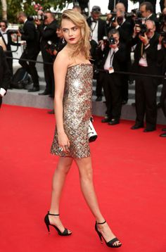 The absolute best of Cannes red carpet fashion: Cara Delevingne in Chanel in 2014.