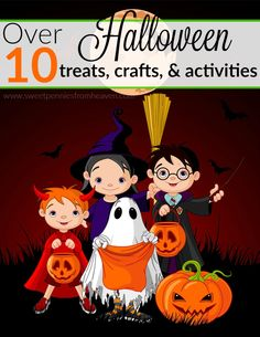 Very fun and kid friendly Halloween crafts, treats, and party activities!