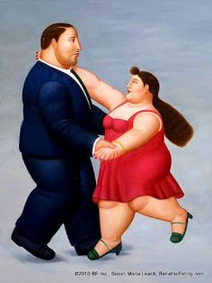 By Fernando Botero (born a figurative artist and sculptor from Medellín, Colombia. He loves to use dance as a metaphor in his paintings of large oversized people doing graceful things. Shall We Dance, Lets Dance, Tanz Poster, Frida Diego, Arte Latina, Plus Size Art, Fat Art, Art Moderne, Fat Women