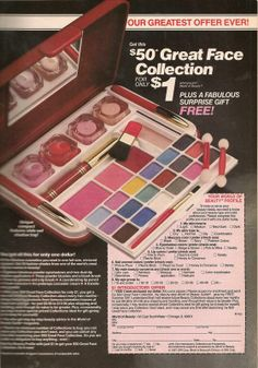 The ubiquitous '80s mail-order makeup compact. Ad from Teen Magazine August 1987. '80s Makeup